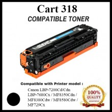 Compatible Canon Cart 318 / 418 Black Toner Cartridge (Cart 318 K) for Canon LBP-7200Cd/Cdn  LBP-7680Cx / MF8350Cdn /  MF8380Cdw / MF8580Cdw / MF729Cx