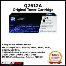 [GENUINE] ORIGINAL HP Q2612A (12A) (2K pgs)  Toner For HP LJ1010/1020/3015/3020/3030/3050/3055/ M1005 / M1319F Printer