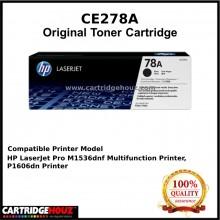 [GENUINE] ORIGINAL HP CE278A (78A) / CE278 (78) (2.1K pgs) Toner FOR HP LJ P1560/ P1566/ 1600/ 1606/ M1536dnf Printer