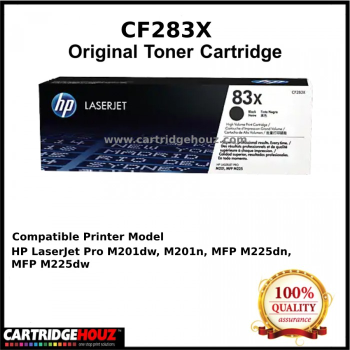 GENUINE] HP CF283X (83X) (2,200 pgs) ORIGINAL Toner For HP