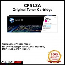 [GENUINE] ORIGINAL HP CF513A (204A) (Magenta) (900 pgs) Toner suitable for HP Colour LaserJet Pro M154a / M154nw / MFP M180nw / M180n / M181fw Printer