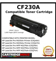 Compatible HP CF230A(30A)(1.6K)Toner Cartridge For HP LaserJet Pro M203dn Printer/HP LaserJet Pro M203dw Printer/M203d HP LaserJet Pro MFP M227fdn/ HP LaserJet Pro MFP M227fdw/HP LaserJet Pro MFP M227sdn