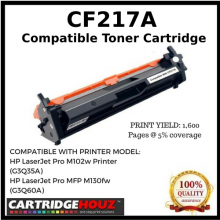 Compatible HP CF217A(17A)(1.6K)Toner Cartridge For HP LaserJet Pro M102w Printer/LJ M102a/LJ M103A/LJ M103nw/HP LaserJet Pro MFP M130fw(G3Q60A)/LJ MFP M130n