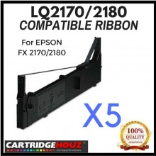 5 units Compatible Epson LQ-2170/2180 ribbon For EPSON FX 2170/2180