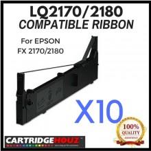 10 units Compatible Epson LQ-2170/2180 ribbon For EPSON FX 2170/2180