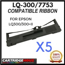 5 units Compatible Epson LQ-300 / 7753 ribbon FOR EPSON LQ300/300+II