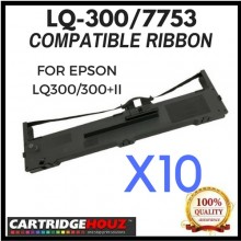 10 units Compatible Epson LQ-300 / 7753 ribbon FOR EPSON LQ300/300+II