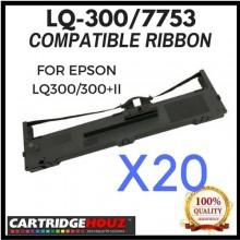 20 units Compatible Epson LQ-300 / 7753 ribbon FOR EPSON LQ300/300+II