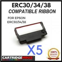 5 units Compatible Epson ERC30/34/38 Black ribbon FOR EPSON ERC30/34/38
