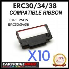 10 units Compatible Epson ERC30/34/38 Black ribbon FOR EPSON ERC30/34/38