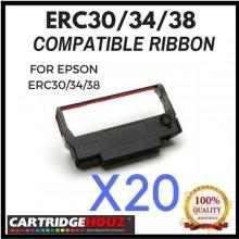 20 units Compatible Epson ERC30/34/38 Black ribbon FOR EPSON ERC30/34/38