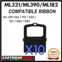 [ 10 units ] Compatible OKI ML321 / ML390 / ML182 Ribbon for OKI 182 / 172 / 320 / 321 / 380 / 390