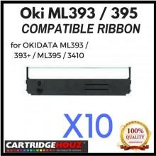 [ 10 units ] Compatible OKI ML393 / 395 Ribbon for OKIDATA ML393 / ML393+ / ML395 / ML3410