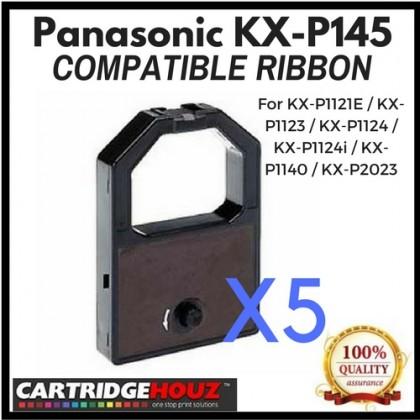 5 units Compatible Panasonic KX-P145 Ribbon For KX-P1121E / KX-P1123 / KX-P1124 / KX-P1124i / KX-P1140 / KX-P2023