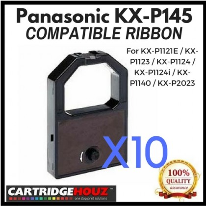 10 units Compatible Panasonic KX-P145 Ribbon For KX-P1121E / KX-P1123 / KX-P1124 / KX-P1124i / KX-P1140 / KX-P2023