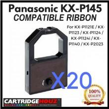 20 units Compatible Panasonic KX-P145 Ribbon For KX-P1121E / KX-P1123 / KX-P1124 / KX-P1124i / KX-P1140 / KX-P2023