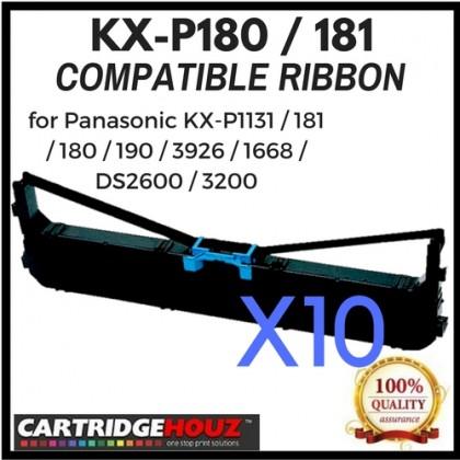 10 units Compatible Panasonic KX-P180 / 181 Ribbon for Panasonic KX-P1131 / 181 / 180 / 190 / 3926 / 1668 / DS2600 / 3200
