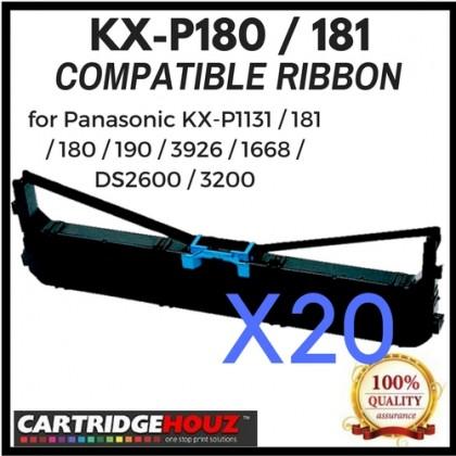 20 units Compatible Panasonic KX-P180 / 181 Ribbon for Panasonic KX-P1131 / 181 / 180 / 190 / 3926 / 1668 / DS2600 / 3200