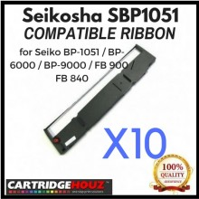 [ 10 units ] Compatible Seikosha SBP1051 Ribbon for Seiko BP-1051 / BP-6000 / BP-9000 / FB 900 / FB 840