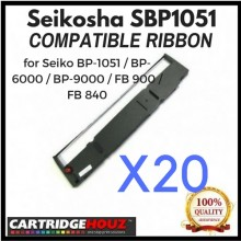 [ 20 units ] Compatible Seikosha SBP1051 Ribbon for Seiko BP-1051 / BP-6000 / BP-9000 / FB 900 / FB 840