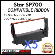 [ 5 units ] Compatible Star SP700 Ribbon for Star Micronics SP 700 / 712 / 712R / 742