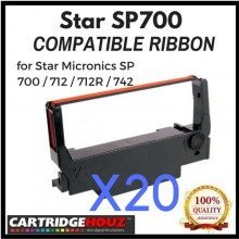 [ 20 units ] Compatible Star SP700 Ribbon for Star Micronics SP 700 / 712 / 712R / 742