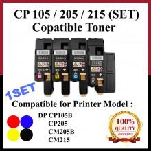 [Set]Compatible Fuji Xerox CP105/CP205/CM205/215 (CT201591) Toner FOR Xerox DocuPrint CP105b, CP205, CM205b, CM205f, CP215w, CM215b, CM215fw Printer