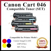[ Full Set ] Compatible Cartridge 046 CRG046 / CRG 046 Color Laser Toner Cartridge For Canon ImageCLASS LBP654 / LBP654cx /  LBP-654cx /  654cx / MF735 / MF735cx / MF-735cx / 735cx Printer