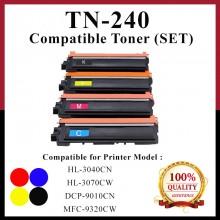 [Set] Compatible Brother TN240 / TN-240 Toner for Color LaserJet DCP 9010cn / MFC 9010cn / MFC 9120cn / MFC 9125cn / MFC 9320cw / MFC 9325cw / HL 3040cn / HL 3045cn / HL 3070cw / HL 3075cw