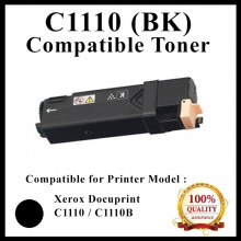 [ Optional Color ] Compatible  Fuji Xerox Docuprint C1110 / C1110B (Black) (2K pgs) (CT201118) Toner For use in Xerox DocuPrint C1110 / C1110B Color Laser Printer