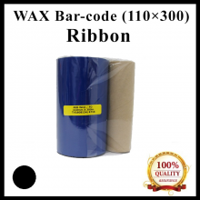 Wax Barcode Ribbon (S12) (AO6) ( 110mm x 300m ) for Thermal Transfer Printer Label Tag Print