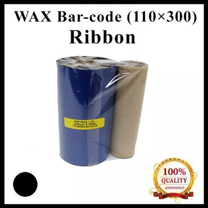 Wax Barcode Ribbon (S12) (AO6) ( 110mm x 300m ) for Thermal Transfer Printer Label Tag Print