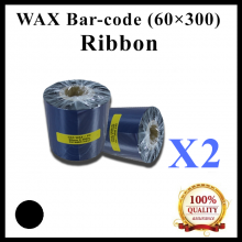 [ 2 units] Wax Barcode Ribbon (G4) ( 60mm x 300m ) for Thermal Transfer Printer Label Tag Print