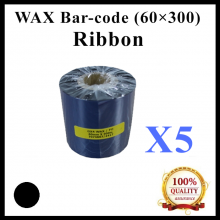[ 5 Unit ] Wax Barcode Ribbon (G4) ( 60mm x 300m ) for Thermal Transfer Printer Label Tag Print