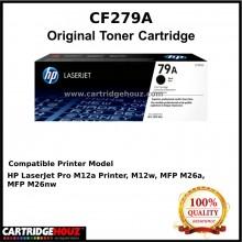 [ GENUINE ] Original HP CF279A / CF279 / 279A (79A) (1K pages ) Toner For HP LaserJet Pro M12a / M12w / MFP M26a / MFP M26nw Printer