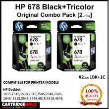 [GENUINE] Original HP 678 Black+Tricolor COMBO PACK [2units] for HP DeskJet 1015/1515/1518/ 2515/2545/2548/2645/2648/ 3515/3545/3548/ 4515/4518/4645