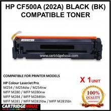 (OPTIONAL COLOR) HP COMPATIBLE CF500A / CF501A / CF502A / CF503A (202A) Toner  For HP Colour LaserJet Pro M254 / M254dw / M254nw / MFP M284 / MFP M284fdn / MFP M281 / MFP M281fdw / MFP M281fdn / MFP M280 / MFP M280nw Printer