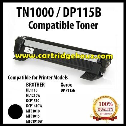 Compatible Brother TN-1000 / TN1000 / XEROX DP P115b Toner Cartridge