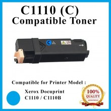[ Optional Color ] Compatible  Fuji Xerox Docuprint C1110 / C1110B (Cyan) (2K pgs) (CT201119) Toner For use in Xerox DocuPrint C1110 / C1110B Color Laser Printer