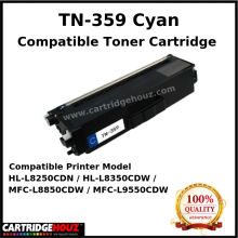 Compatible Brother TN-359 (Cyan) (6K PGS) for HL-L8250CDN / HL-L8350CDW / MFC-L8850CDW / MFC-L9550CDW