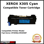 Compatible Xerox X305 (Cyan) (CT201633) (3K PGS) for Fuji Xerox CP305B,CM305DF