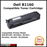 Compatible Dell B1160 (1.5K PGS) for Dell B1160/B1160w/B1163/B1163w/B1165/B1165nfw