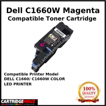 Compatible Dell C1660w / C1660 Magenta Toner Cartridge (1K PGS) for DELL C1660/ C1660W COLOR LED PRINTER