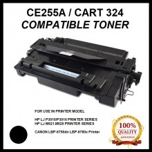 Compatible HP CE255A (55A) / Canon CART 324 Toner Cartridge FOR HP LaserJet P3010/P3015 Printer /CANON LBP-6750dn/ LBP6780x/CANON MF515x Printer