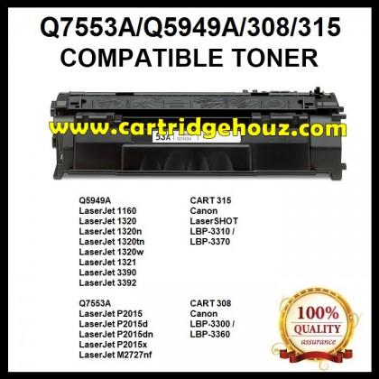 Compatible HP Q5949A (49A) / Q7553A (53A) / CART 308 Toner Cartridge
