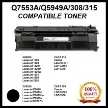 Compatible HP Q5949A (49A) / Q7553A (53A) / CART 308 Toner Cartridge