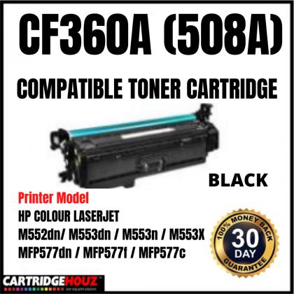 BLACK CF360A 508A Compatible Toner Cartridge for  HP LaserJet Enterprise Color M552 M553 M557 MFP M576