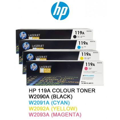 HP 119A Colour Toner Cartridge - W2090A Black/W2091A Cyan/W2092A Yellow/W2093A Magenta