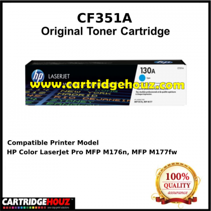 ORGINAL HP CF351A (130A) (CYAN) ORIGINAL Toner For HP Laser Jet Pro M153n/ M176n/ M177w Printer