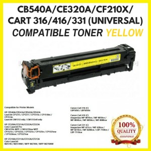 [ Optional Color ] Compatible HP CB540A (125A) / CE320A (128A) / CF210X(1131X) / CF210A(131A) / CANON 316 / 416 /331 Toner